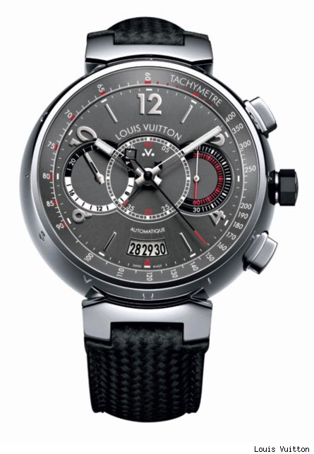 Louis Vuitton Voyagez Tambour Automatic Chronograph Tachometer Watch