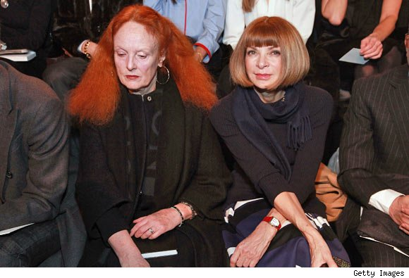 Grace Coddington and Anna Wintour at the Ralph Lauren Fall 2011 Collection