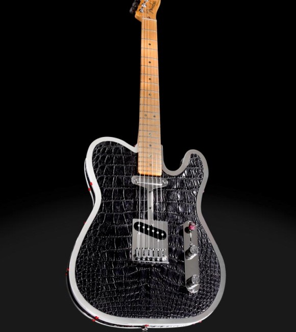 The $85,000 Custom Diamond &amp; Alligator Guitar