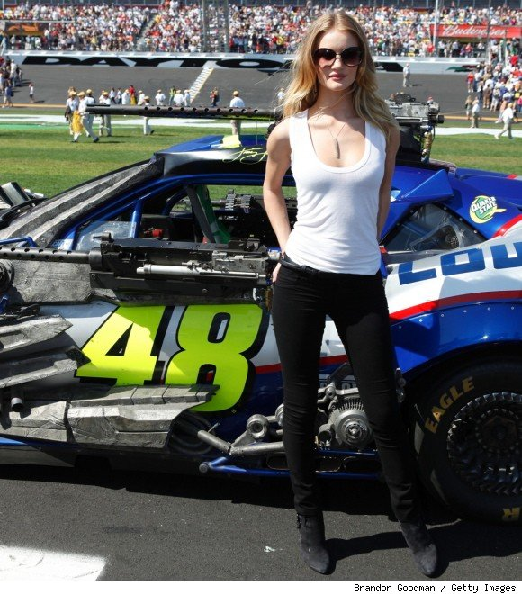 Rosie Huntington-Whiteley Gets Pulses Racing at Daytona 500