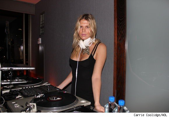 Alexandra Richards, daughter of Rolling Stones' Keith Richards, serves as DJ at the Fashion Next party at the W Times Square on February 2, 2011