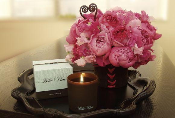 Belle Fleur candles for Valentine's Day