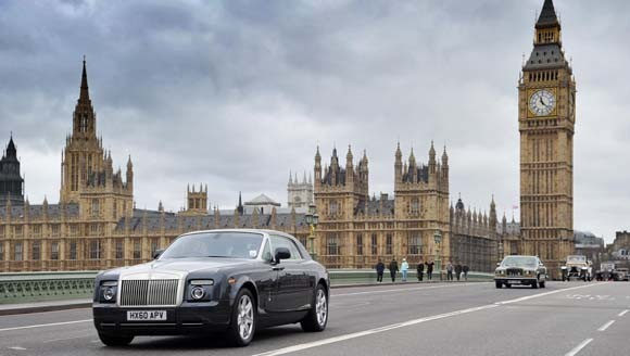 Rolls-Royce Breaks Out the Vintage Silver for London Centenary Parade