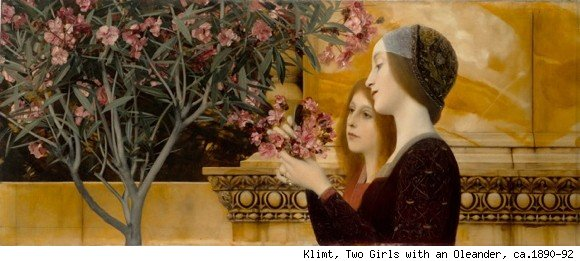 Klimt, Two Girls with an Oleander, ca.1890-92
