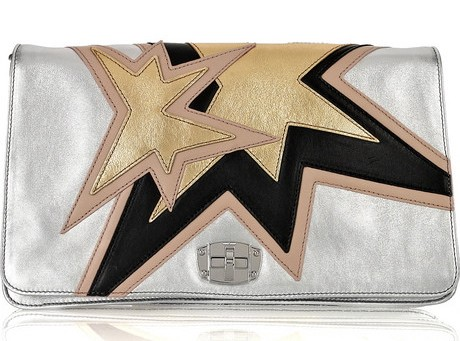 Miu Miu metallic leather clutch