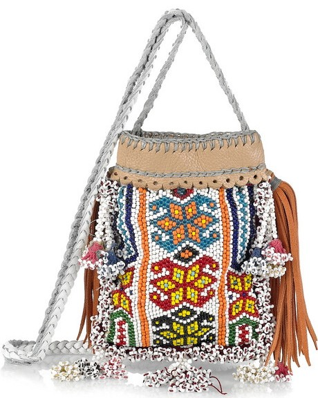 Paul and Joe Beaded Cross-Body Bag