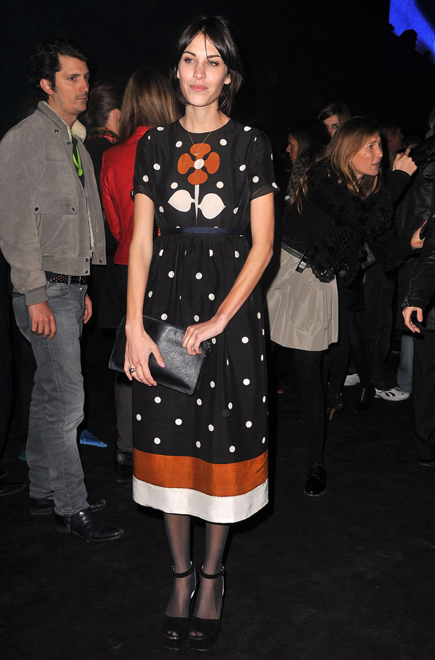 Alexa Chung in Polka Dots at Etam Spring 2011