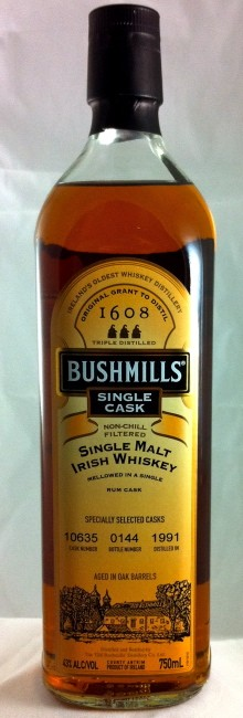 Bushmills Single Cask 19 Year Old Rum Cask Finish