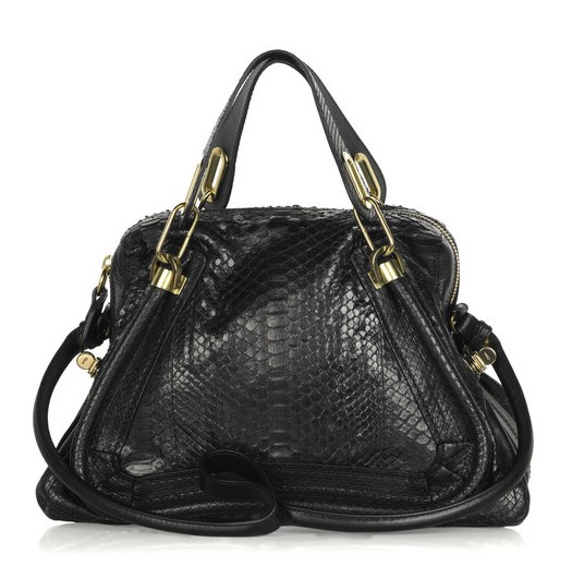Chloe Paraty Python and Leather Bag