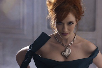 Christina Hendricks modeling Vivienne Westwood