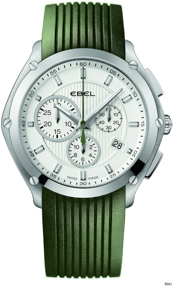 Ebel Classic Sport Chrono Khaki Green Watch