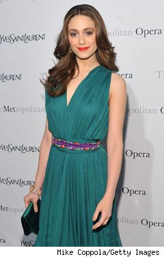 Emmy Rossum Yves Saint Laurent Met Opera