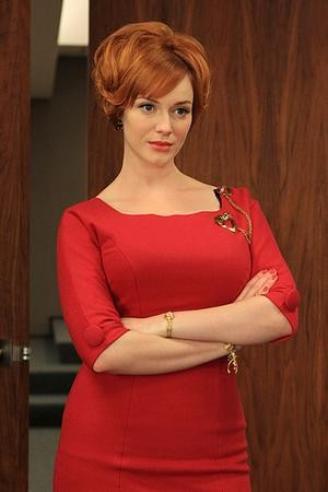 Christina Hendricks as Joan Holloway in Mad Men