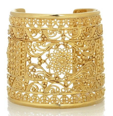 Isharya Filigree Gold Plated Cuff