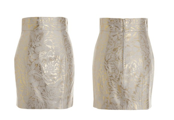 L'Wren Scott Brocade Mini Skirt