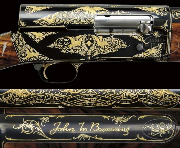 Richard Nixon's Gold-Inlaid Browning Shotgun at Auction