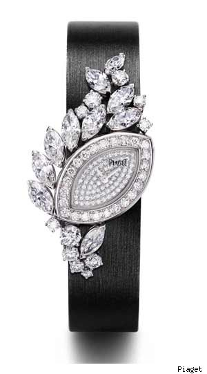 Piaget 18-carat white gold and diamond watch