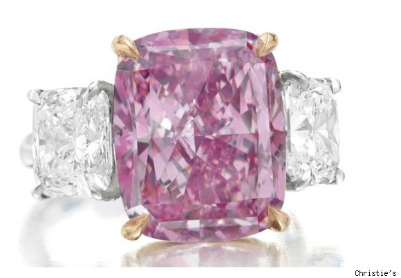 purple-pinkish diamond at christies