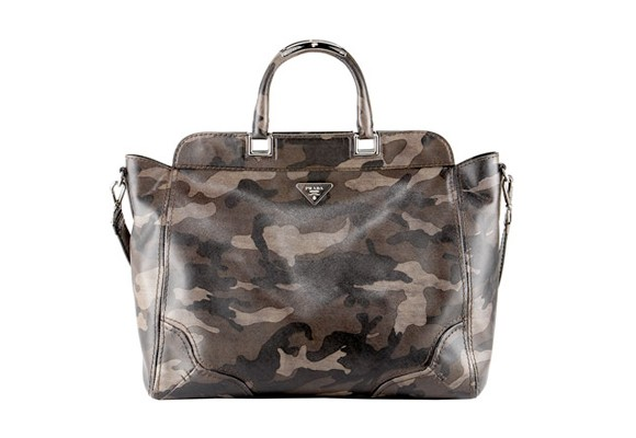 Prada Saffiano Camouflage Tote