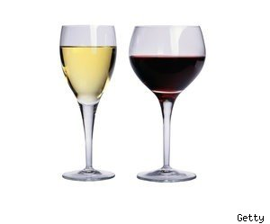 Pairing red and white wines with food.