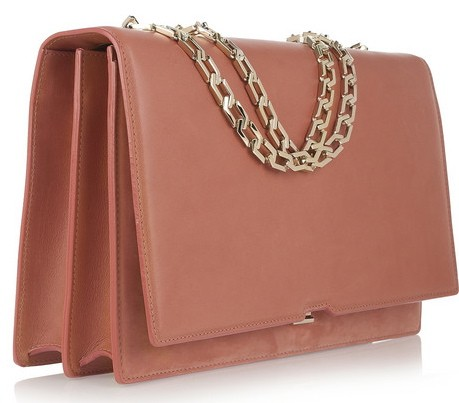 Victoria Beckham Hexagonal Chain leather shoulder bag