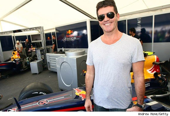Simon Cowell at Red Bull Racing