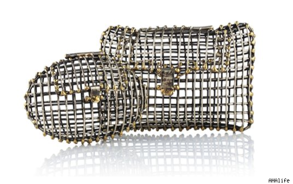 Anndra Neen Metal Cage Clutch, $675