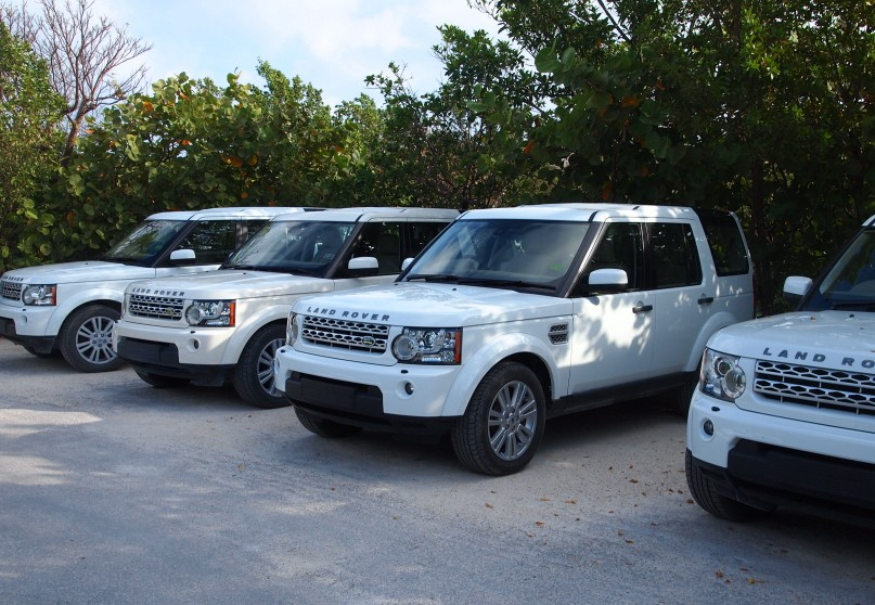 Amanyara's fleet of Land Rover LR4s