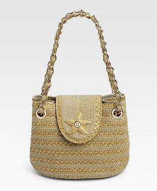Eric Javits SQ Star Straw Mini Bag