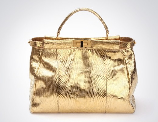 Fendi 24-Karat Gold Trevi Fountain Peekaboo Bag, $36,000