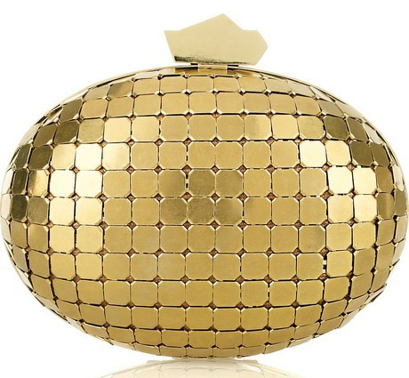 Lanvin Miniaudiere Metal Oval Clutch