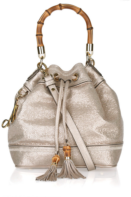 Milly Snake-effect leather shoulder bag