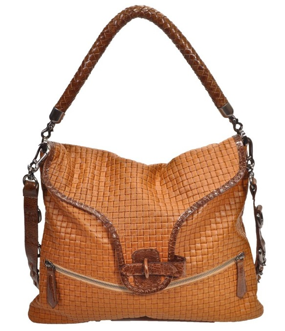 Carla Mancini Woven Flap Over Handbag