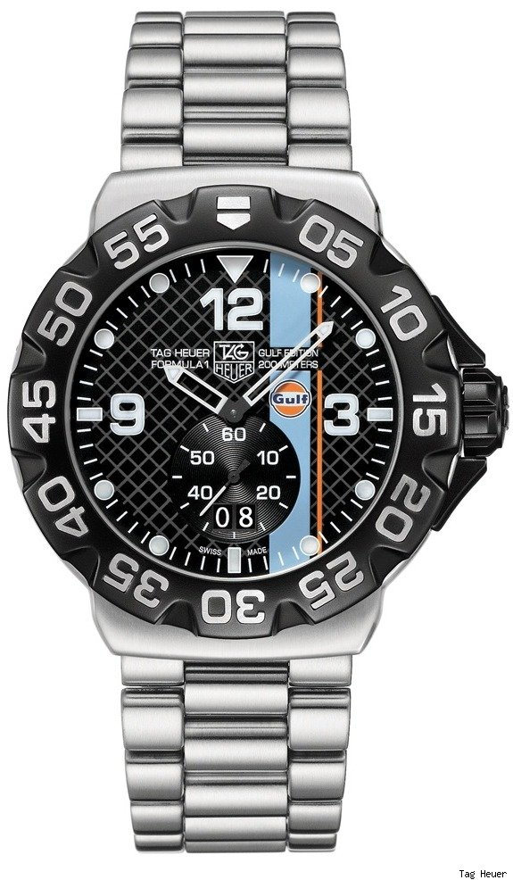 tagheuer formula 1 gulf watch