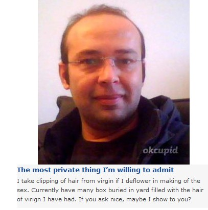 creepy dating profiles Funny, funny pictures, funny photos, wtf, fail, bizarre, dating, online dating, 25 totally bizarre online dating profiles.
