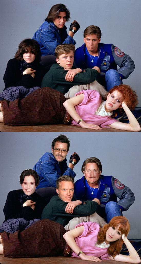 Funny photos, Breakfast Club, Before and After