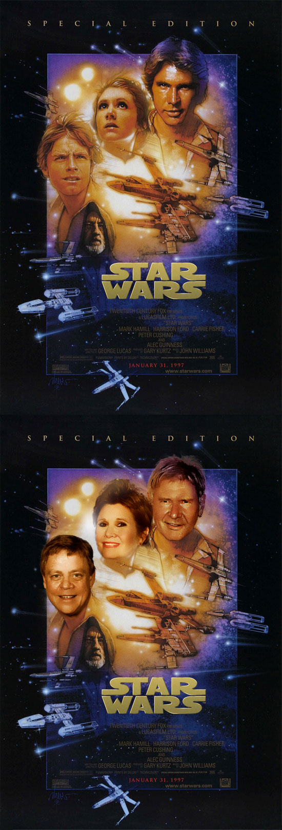 Star Wars, Funny photos, star wars before and after