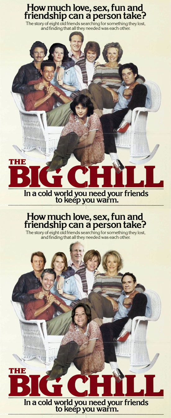 Funny photos, before and after, movie poster, Big Chill, Kevin Spacey