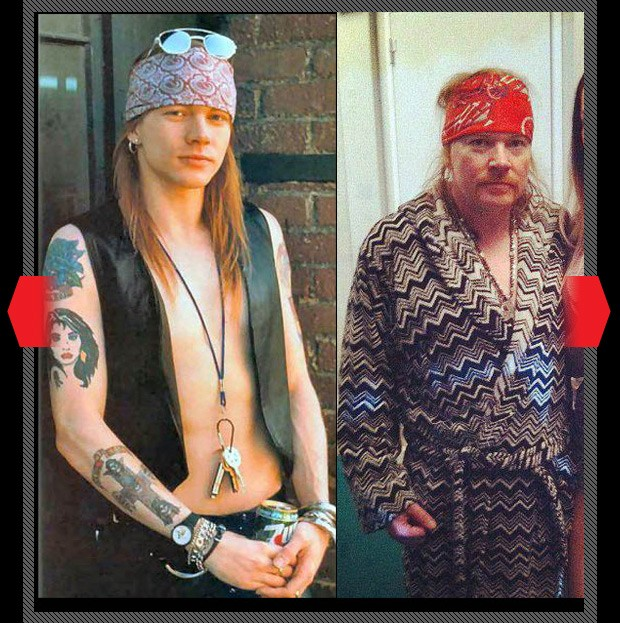 Axl rose not aging well, axl rose old and fat