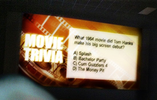 Movie trivia prank cum guzzlers 4, Tom Hanks, funny prank, movie trivia question prank