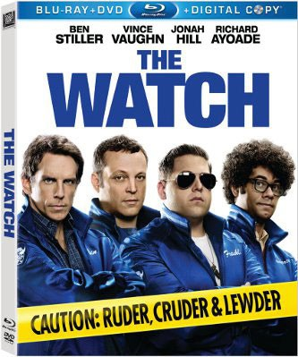 The Watch on DVD, The Watch DVD cover box art, Vince Vaughn