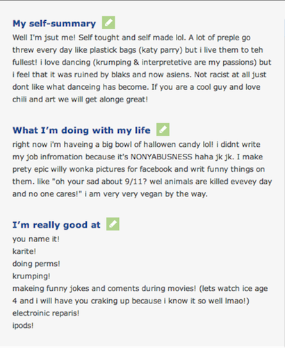 OK Cupid, scary OK Cupid profile, how low will men go on OK Cupid, worst OK Cupid profile