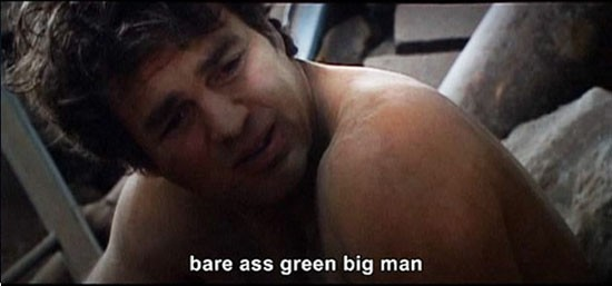 the avengers, bare ass green man
