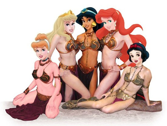 Disney, Star Wars, Disney Star Wars merger, funny meme, Disney princess in leia outfits