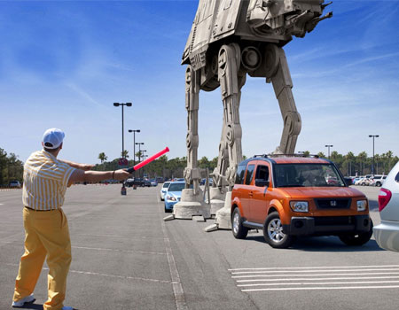Disney, Star Wars, Disney Star Wars merger, funny meme, imperial walker in parking lot