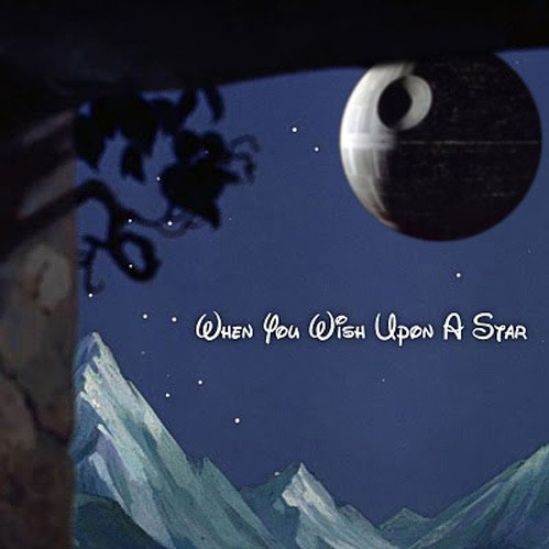 Disney, Star Wars, Disney Star Wars merger, funny meme, when you wish on a death star