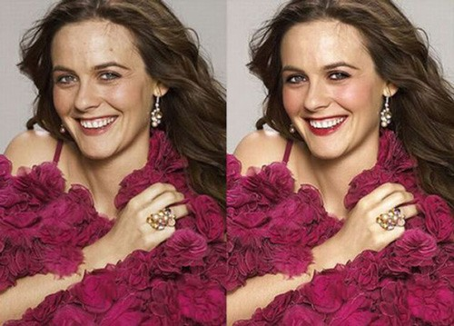 celebrities before and after photoshop, alicia silverstone