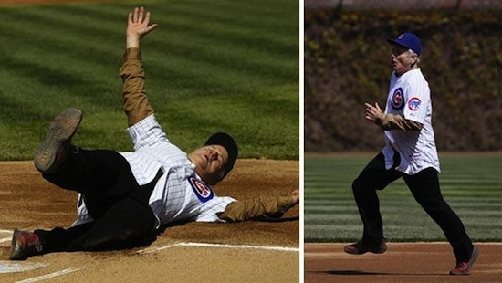 Bill Murray, Bill Murray slides into home plate, Bill Murray cubs fan