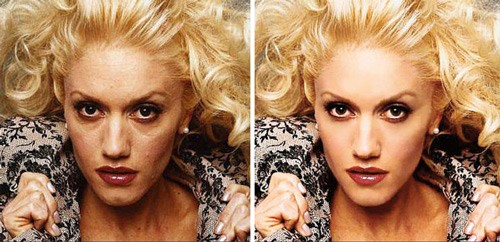 celebrities before and after photoshop, Gwen Stefani