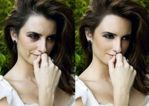 celebrities before and after photoshop, Penelope Cruz